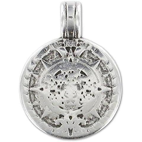 Pendente calendario Maya mm.21 argentato antico x1 - Calendario Maya
