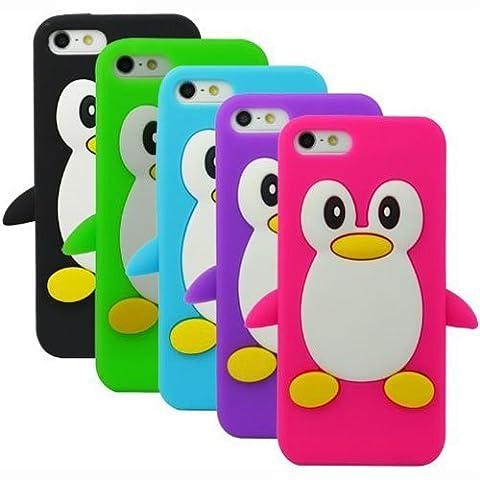 Semoss 5 X Lovely 3D Pingouin Etui Housse Coque Silicone