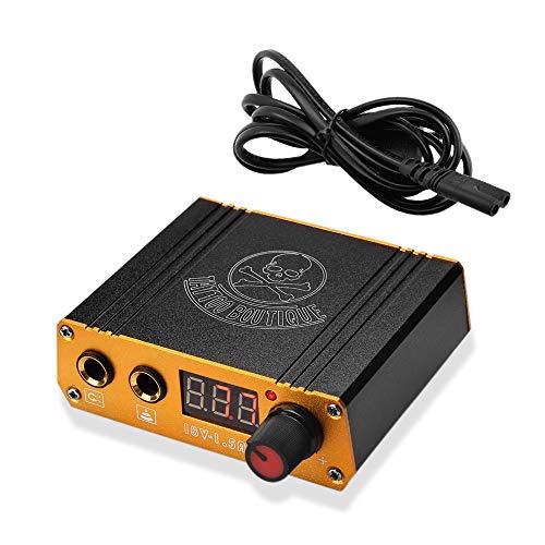 ATOMUS Black Tattoo Netzgerat Digital Anzeige Tattoo Maschine Stromversorgung for Liner Shader Tattoo Zubehor with Power Cable