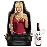 Autositzbezug Fotodruck Motiv Geschenk-Set Autositzschoner : Sexy Girl -- Frau Motiv Bezug + Mini Flaschenshirt