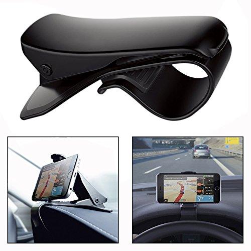 OFKPO Smartphone Base movil soporte - con todo tipo de teléfonos, Soporte Movíl Coche, Soporte para teléfono de coche (Negro)
