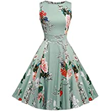 Vintage 1950 vestito da cocktail del vestito da partito picnic