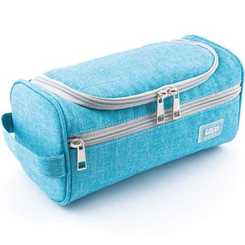 GO!elements® Smart Kulturbeutel Unisex Kulturtasche zum Aufhängen Herren & Damen | Kosmetiktasche Männer Frauen für Koffer & Handgepäck | Waschtasche Reise-Tasche (Türkis)