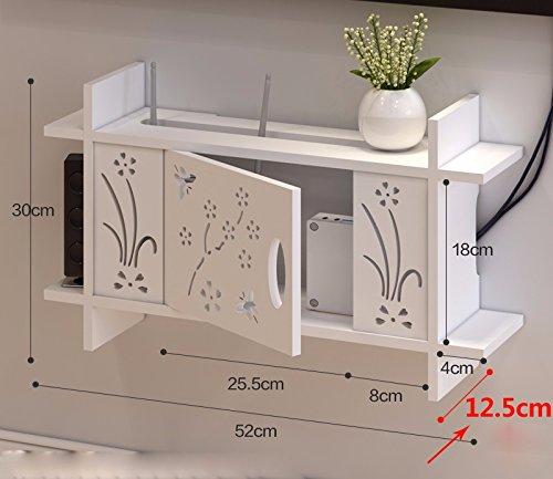 JAYSK Wireless Router zugeben, Patrone, WLAN Racks aus gelochten Mauer Multimedia Maskierung, 52 * 30 * 12,5 cm Chassis montiert
