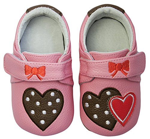 Rose & Chocolat RCM Polka Lolly Baby Mädchen Krabbelschuhe & Puschen Sneaker Pink (Pink)