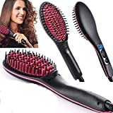 SIVANA Ceramic Professional Electric Hair Straightener with Temperature Control and Digital Display Brush for Women (Black)