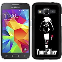 FUNDA CARCASA PARA SAMSUNG GALAXY CORE PRIME DARTH VADER 7 BORDE NEGRO - D4