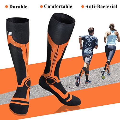 Painstaking Lkwder 3 Pairs Men Women Compression Socks Men Anti Fatigue Leg Support Knee High Durable Medical Grade Stocking Care Feet Socks Men's Socks