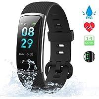 KUNGIX Orologio Fitness Tracker Uomo Donna Smartwatch Android iOS Cardiofrequenzimetro da Polso Fitness Activity Tracker Smart Watch 0,96 Pollice Schermo a Colori Impermeabile IP68 (Nero)