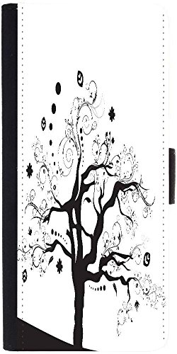 Snoogg Abstract Illustration Of A Tree With Lots Of Leaves Designer Protective Phone Flip Case Cover For Lenovo Vibe X3