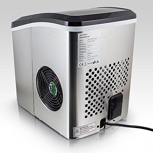 Eiswürfelmaschine Eiswürfelbereiter Eiswürfel Ice Maker Eis Maschine (Edelstahl) -