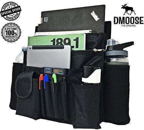 DMoose Auto vorne Passagier Sitz Organizer Mit Laptop & Tablet Storage (17X14) Verstellbare Riemen