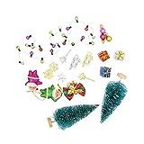 Sharplace 1:12 Puppenhaus Puppenstube Miniatur Weihnachten Dekoration Zubehör Satz - Mehrfarbig
