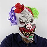 SQCOOL Horreur Red Hat Clown Mask Halloween Scary Ghost Room Chamber Escape Dress Up Funny Half Headset Environmental Latex