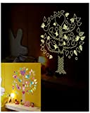 Adesivo Fiore Con Amore Cuore, Fiore, Uccelli, Adesivo Muro Ad Albero Tatuaggio Muro Adesivi Incandescente Fluorescente