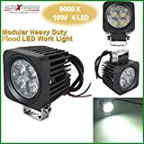 #6: AllExtreme 10W CREE LED Flood Driving Fog Light LED Work Light Bar Mounting Bracket for Bike Motorcycle Car ATV SUV Boat 4 x 4 Jeep