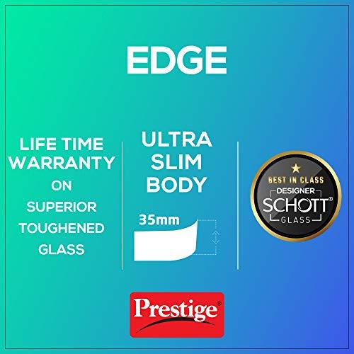 Prestige Edge Schott Glass 4 Burner Gas Stove, Black