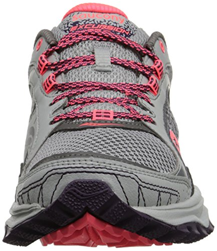 Saucony Womens Excursion Tr9 Road Running Shoe, Blue/Black/Red, 10 M US Grigio/Prugna/Corallo