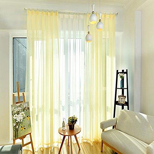 Pieno colore lino filato tenda camera da letto balcone ristorante balcone 2pezzi 270cm x 150cm (h x b), set di & # xff08; vendute a coppia vendere & # xff09;