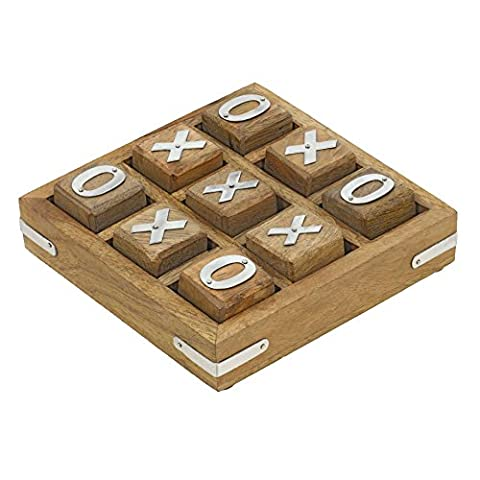 Handmade Wooden Tic Tac Toe Game for Kids 7 and Up - Great Gifts for Kids for All Occasions