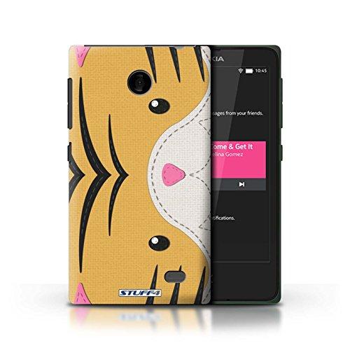 Kobalt® Imprimé Etui / Coque pour Nokia X / Requin conception / Série Cousu des Animaux Effet Tigre