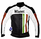 WinNet giacca giubbotto da per moto con protezioni livrea bandiera italiana colori italia