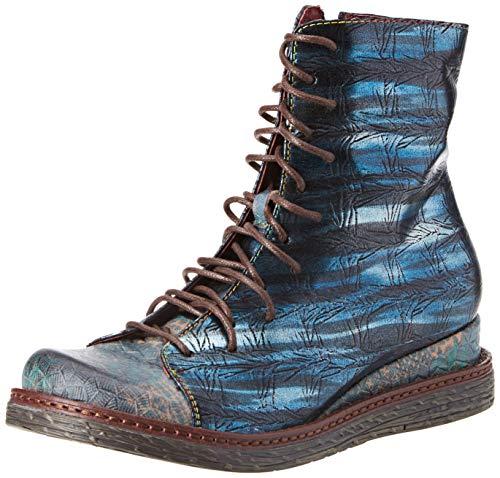 LAURA VITA Damen ERCNAULTO 02 Stiefeletten, Blau (Turquoise), 39 EU