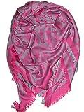 !Trendstyle Schal Tuch Monogram Groß neue Farben 150cm (Magenta)