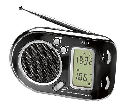 AEG WE 4125 Weltempfänger 2in1 Radio und Wecker in Einem,