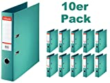 Esselte PlastikOrdner Standard, DIN A4, 75 mm, sortiert, 10er Pack (A4, türkis)