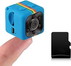SQ11 Mini Portable Camera 1080P HD Camcorder Lithium-Batterie Videorecorder Sport DV Kamera TF Card TV OUT, blau, 1