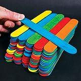50 Jumbo Wooden Craft Lollipop Sticks Colours Mixed 150mm x 19mm Giant Lolly Sticks