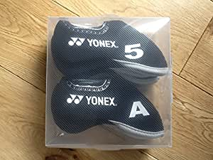 new boxed 1O RIGHT HANDED YONEX black Golf iron headcovers with window & numbers on the side 4,5,6,7,8,9,sw,pw,w,a washable neoprene