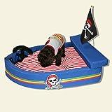 Sistemazioni per dormire Letto per Cani Pirata Lavabile Quattro Stagioni Blu Nave Velluto Nido Tridimensionale Letto per Gatti e Cani da Compagnia (Size : 70cm)