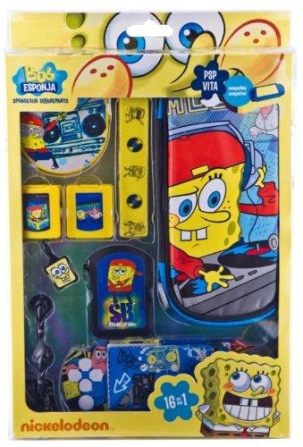 Indeca PSP/PS Vita Combination Pack–Sponge Bob–Zubehör PC-Spiele (blau, gelb, verkabelt)