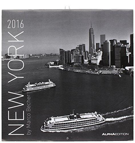 Preisvergleich Produktbild New York 2016 - Broschürenkalender (30 x 60 geöffnet) - schwarz/weiß - Städtekalender - Wandplaner