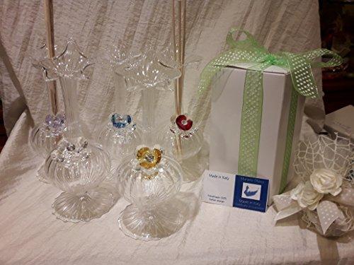Bomboniere matrimonio vetro murano con cristallo swarovski scatola omaggio