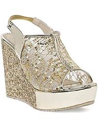 d986f50e72e Gripex Shoes Sandals for Women Wedges High Heel Casual Comfortable  Dailywear Footwear