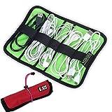 Falten Rolls Bag Kabel Organizer Tasche Travel Case Digital Speicher Tasche für Stifte Werkzeug (Rot)