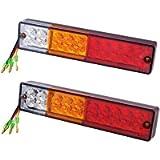 Discoball Universal LED Trailer Rear Light, Board Tail Brake Stop Indicator Lamp for 12V Trailer Truck Lorry Caravan Van…