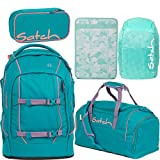 Satch Pack Ready Steady 5er Set Schulrucksack, Sporttasche, Schlamperbox, Heftebox & Regencape Mint