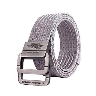 ACMEDE Herren Damen Gürtel Stoffgürtel mit Doppel D-ringe Schnalle Doppel Nylon Militär Stoffgürtel für Damen und Herren 125 * 3.8CM