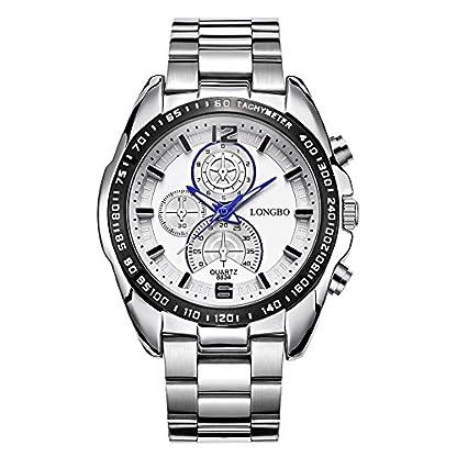 iLove-EU-Herren-Armbanduhr-Sportuhr-Analog-Quarz-3ATM-wasserdicht-LED-Licht-Blau-Gauge-Nadeln-Edelstahl-Silber-WHLB012