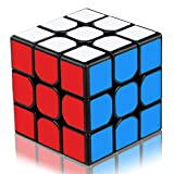 Aiduy 3x3 Speed 3D Puzzles Cube, Magic Cube Enhanced Edition Smooth, nieuwe anti-pop-structuur Speed Cube, zwart