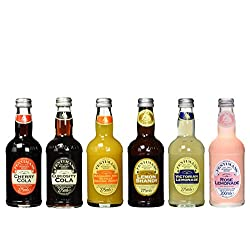 Fentimans Victorian Lemonade, Cherry Cola, Lemon Shandy, Rose Lemonade, Mandarin & Seville Orange Jigger Und Curiosity Cola Inkl. Pfand (6 X 0.275 L)