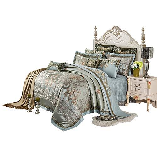 JR%L Amerikanischen Palast Bettbezug, 4 Stück Bettwaren 1200 Tc Hotel Mikrofaser Bettbezug High-Ende Tröster Abdeckung-a King -