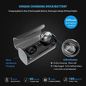 SoundPEATS Portable Bluetooth Wireless Headphones Q29 With Charging Base-Black