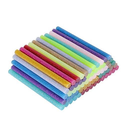 rbige Glitterstock Heißkleber Sticks 12 Farbe für Heißklebepistolen, DIY Kunst, Dekoration (120 pcs) ()