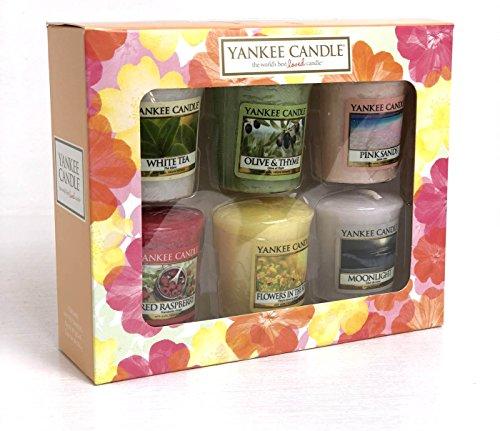 Offizielles Yankee Candle Votivkerzen Sechs Erfrischende Home Duft Geschenk Set