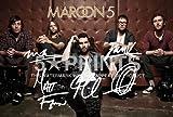 Maroon 5, Poster dédicacé autographe imprimé Adam Levine